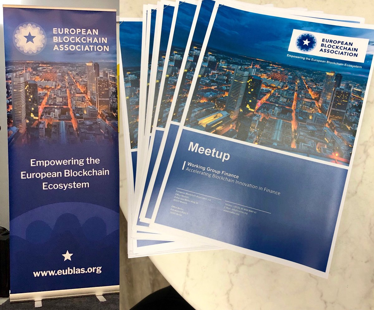 European Blockchain Association – Launch Of Working Group Finance WGFin
