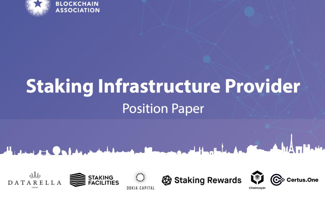 EBA Publishes Staking Infrastructure Position Paper Alongside Website Relaunch
