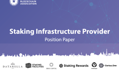 EBA Publishes Staking Infrastructure Position Paper Alongside Website Relaunch