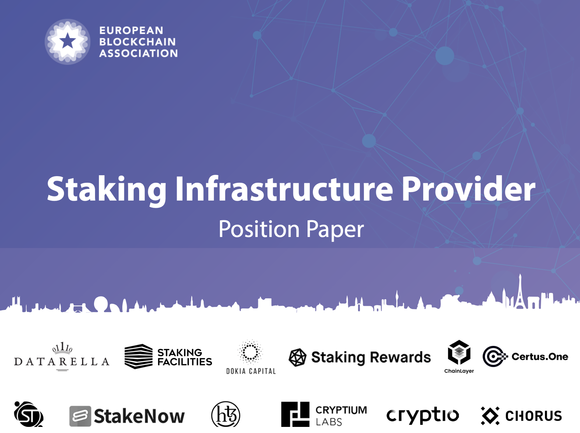 EBA EUPoS Staking Infrastructure Position Paper