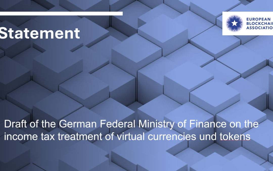 Statement on proposed tax treatment of virtual assets in Germany